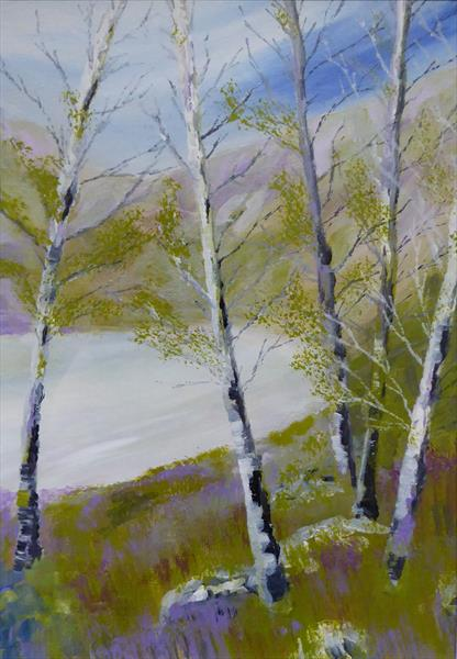Winter Birches by Elaine Allender