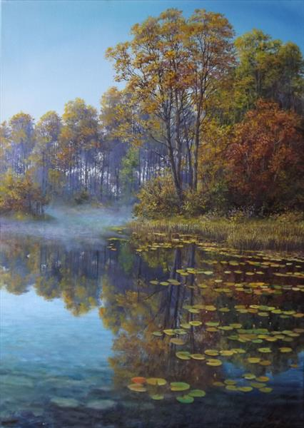 Misty Autumn Morning *Reserved for Nishank * by Oleg Riabchuk