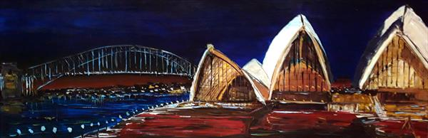 Sidney opera house by night by Andrew Alan Matthews