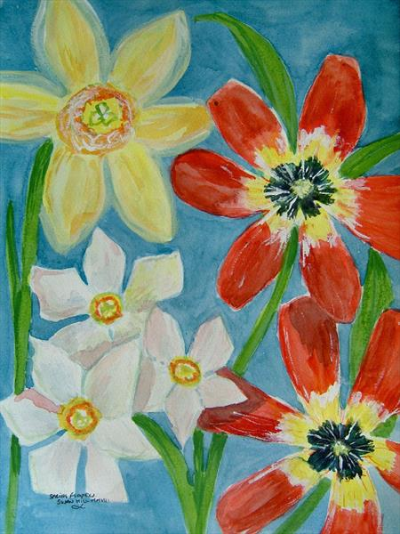 Bold Flowers by Susan Hill