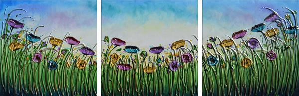 Glorious Spring - (Large triptych) by Amanda Dagg