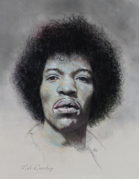 JIMI WITH A SHADE OF BLUE by Mal Daisley