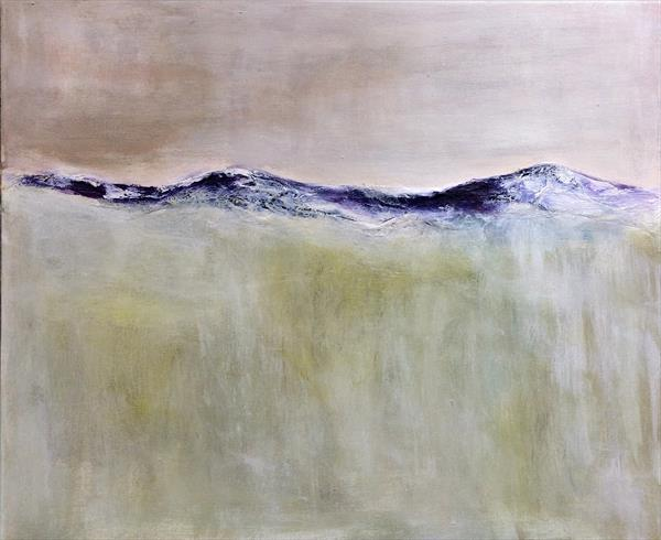 On Moorland Abstract Landscape on canvas 24