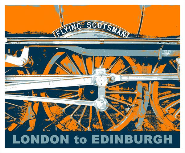 Flying Scotsman Pop Art by Paul Berriff