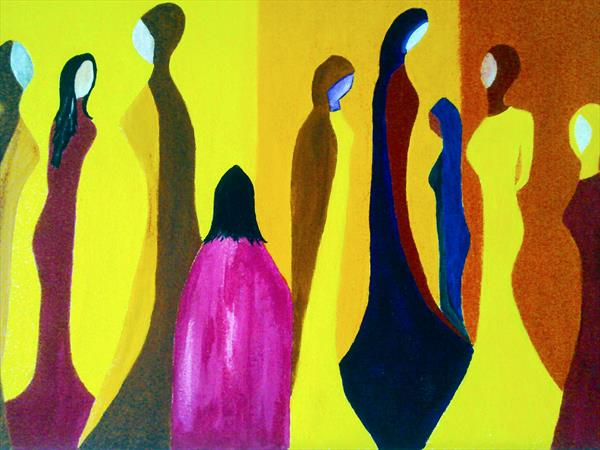 Silent gathering 1 _ New painting by Phillip Speakman