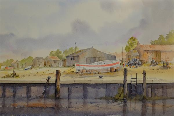 Boat Huts Brancaster Staithe by Robert Jennings