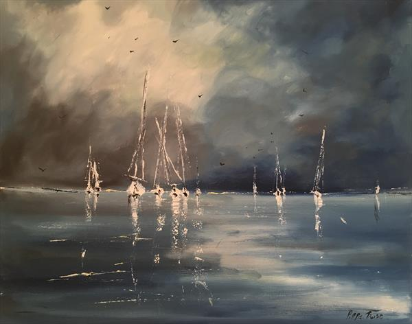 Sailing against a blue sky by Pippa Buist