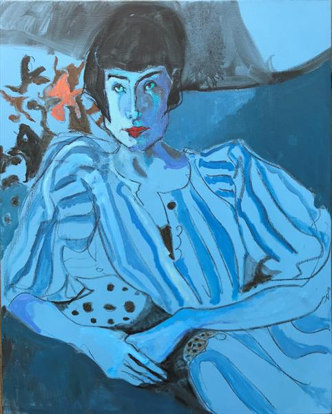 Girl in blue. by Liane Stevenson
