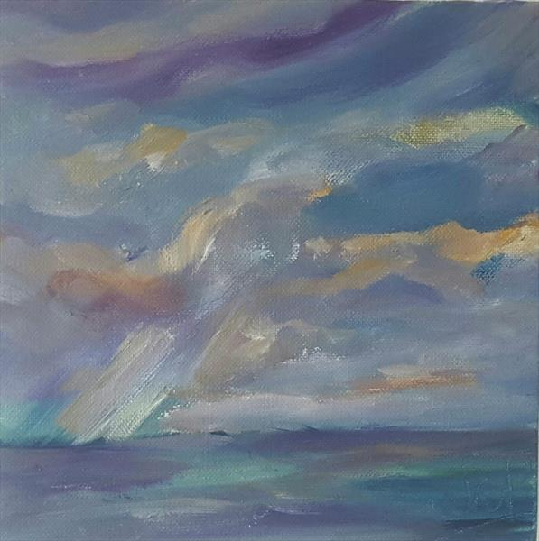 Rain showers out to sea by niki purcell
