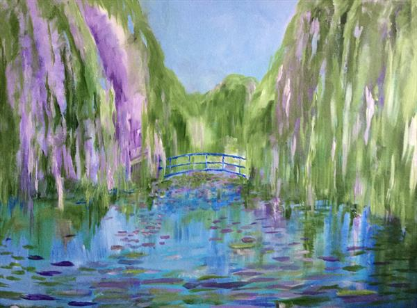 A Monet Fantasia (large original canvas) by David King