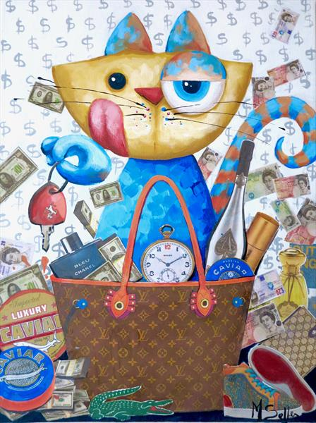 Rich Cat  by Marilene Salles