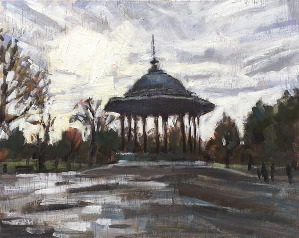 Winter skies over Clapham Common by Louise Gillard
