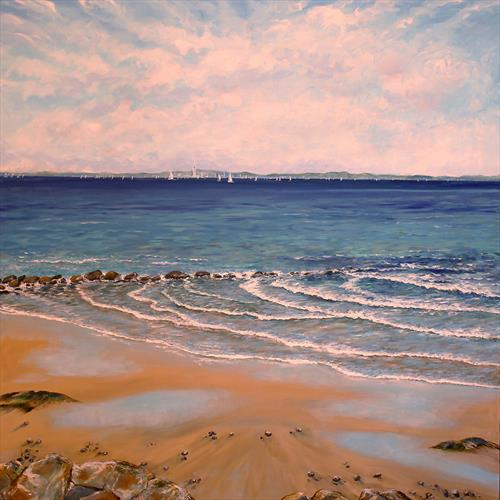 Distant Sails Across the Solent by Sandra Francis
