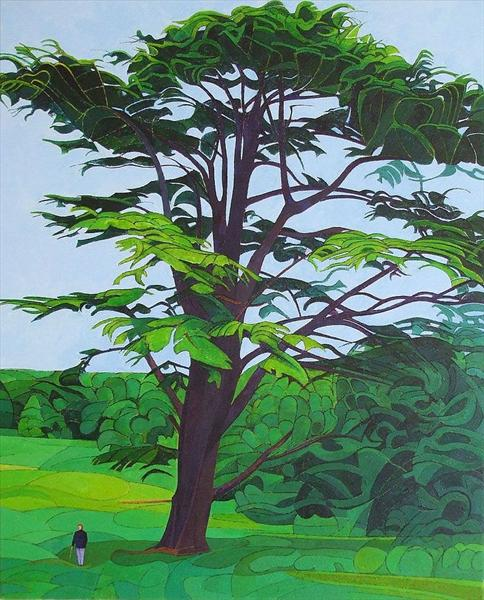 Tree With Standing Figure by David Watmough