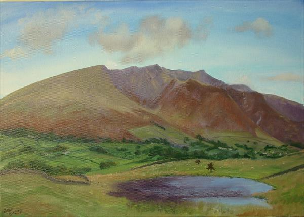 Blencathra, plein air sketch 6/10/17 by Peter Brook