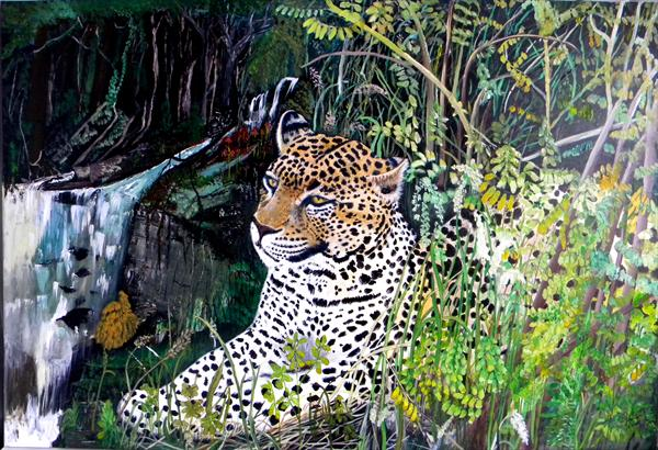 Leopard in the Jungle by Alice P Jenkins