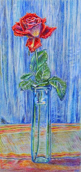 Rose in Glass by Patricia Buckley