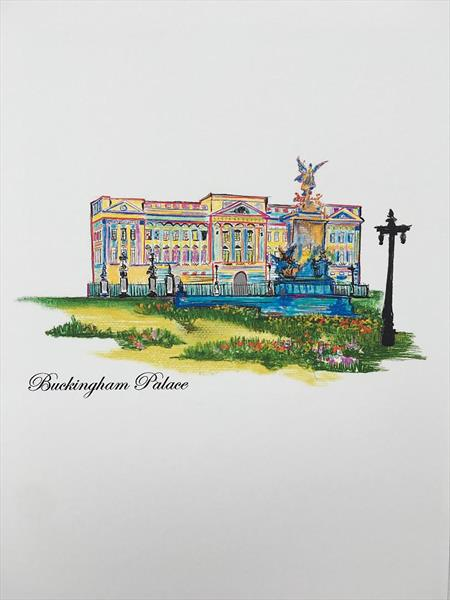 London sketches - Buckingham palace by Aasiri Wickremage