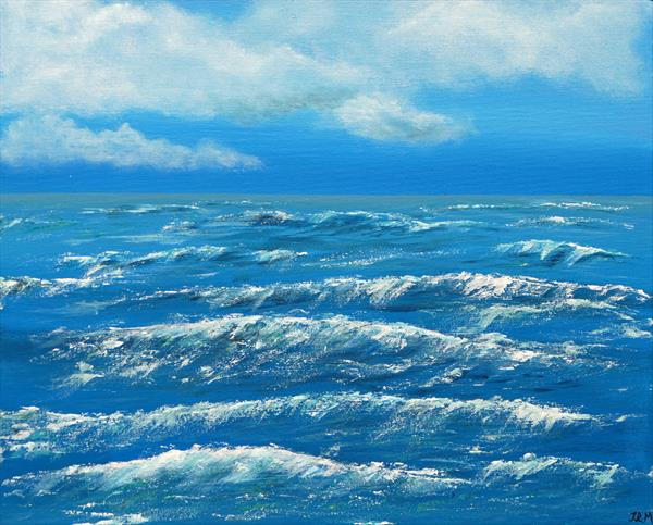 Breaking Waves on Sea by Jacqueline Moore