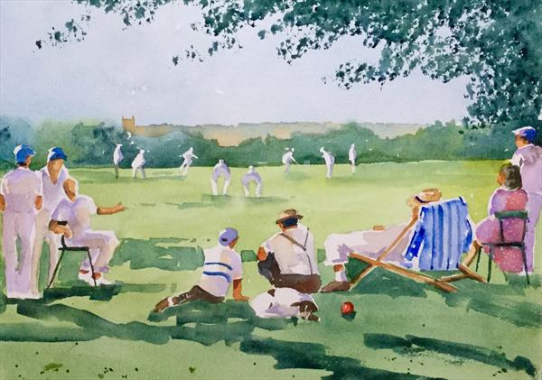 The village cricket match  by Susan Shaw