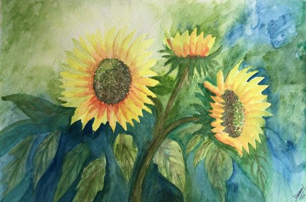 Blooming Sunflowers by mousumi sahoo