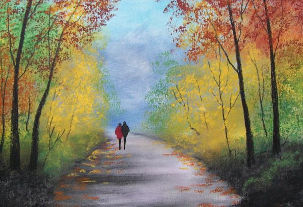 Country Lane in Autumn by Patricia Richards