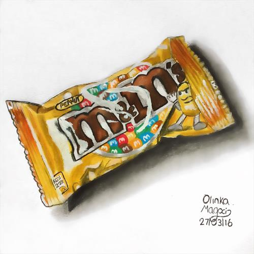 M&M packet by Olinka Magoci