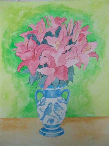 Pink Lilies by Mary Ballentine