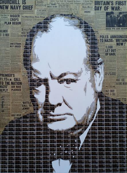 Churchill - First day of the war by Gary Hogben