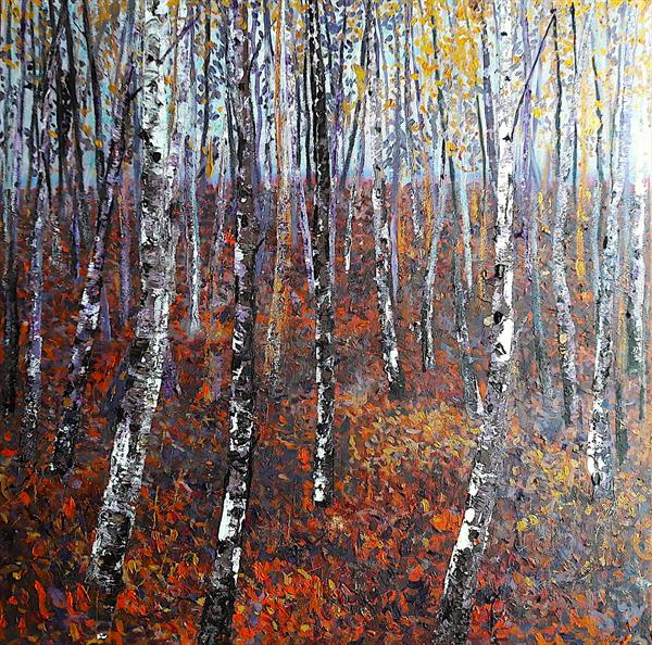 Silver Birch Wood (Large) by Teresa Tanner