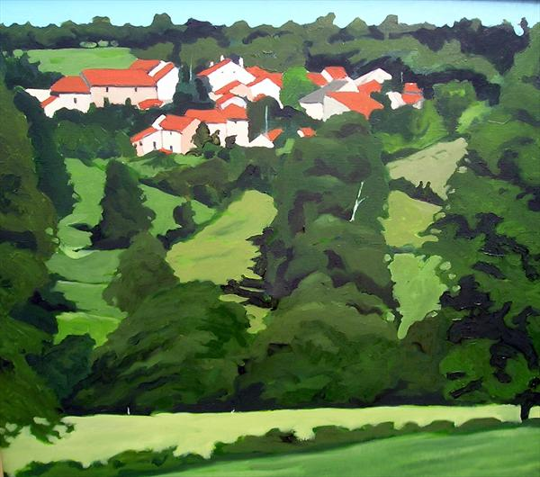 Limousin Village by Paul O' Dell