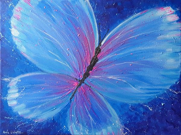 Blue Butterfly by Angie Livingstone