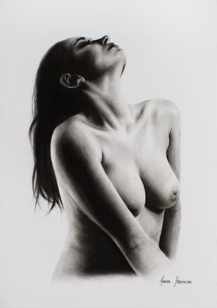 Nude Woman Charcoal Study 46 by Ashvin Harrison
