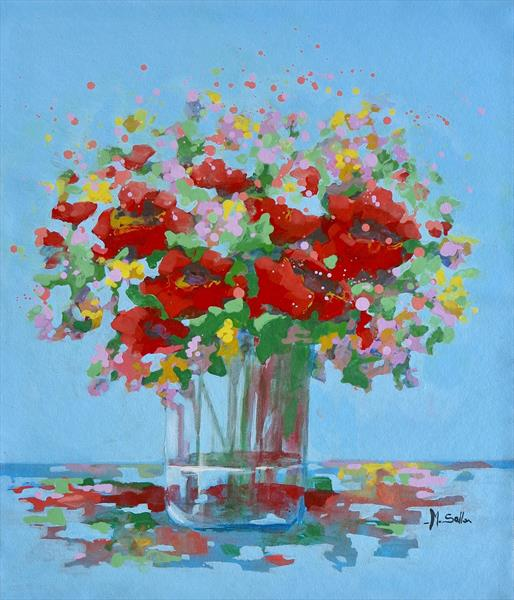 Vibrant poppies  by Marilene Salles