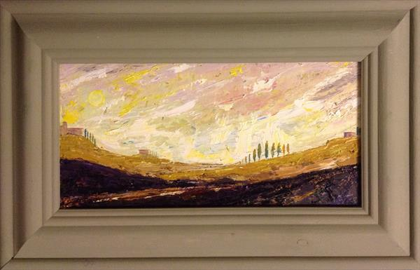 The Tuscan sun strips away the pallid dawn ( framed original)