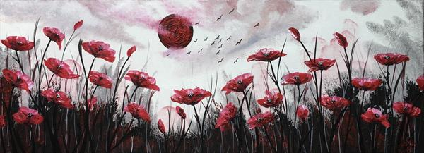 Blood Moon and Red Poppies