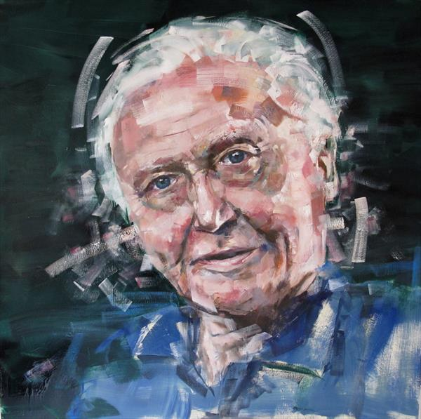 Sir David Attenborough by Toby Frossell
