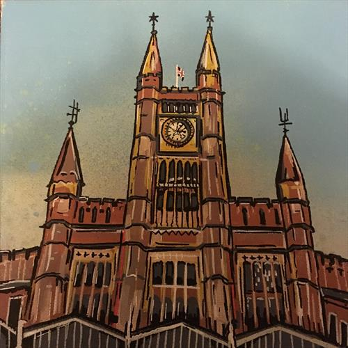 Temple Meads - Original canvas by John Curtis