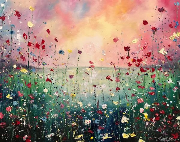 A field bursting with life  by Pippa Buist