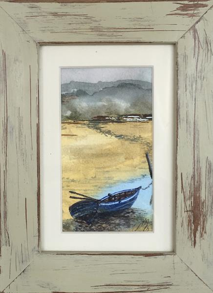 The yellow rowing boat by Marja Brown