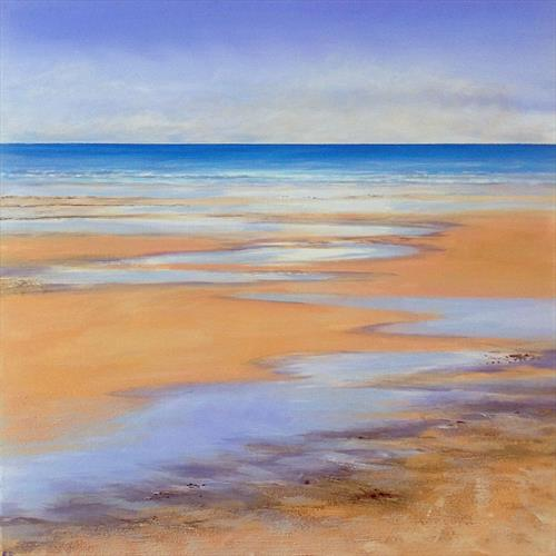 To The Sea Beachscape by Sandra Francis
