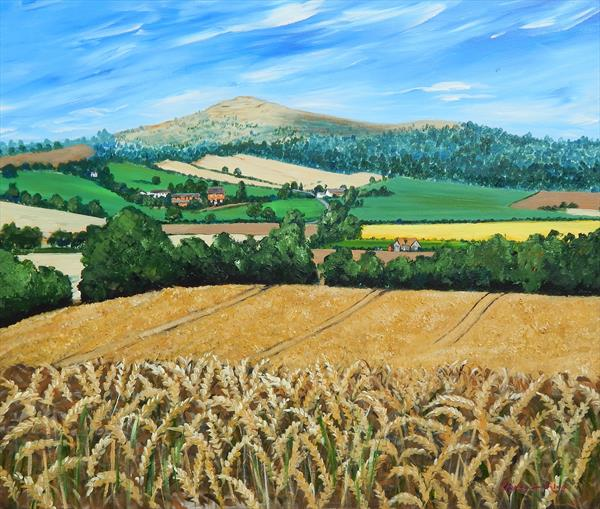 Over The Wheatfield by Jayne  Farthing