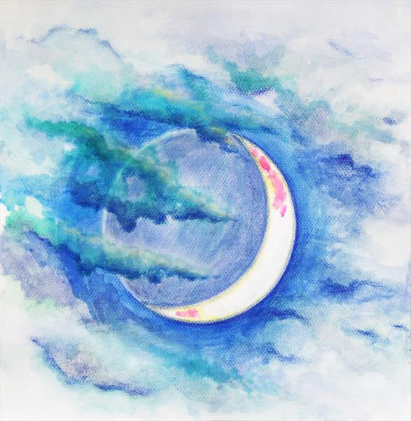 Waxing Crescent Moon by Jacqueline Talbot