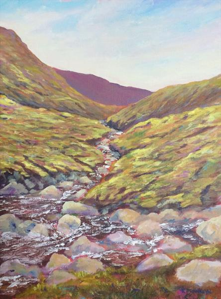 Wicklow mountain stream II by Kevin Franklyn