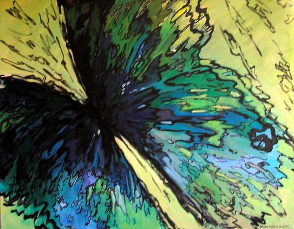 Blue Butterfly by Dawn Ogden-white