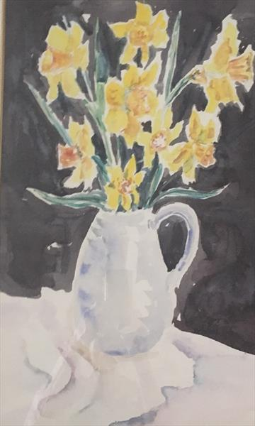 'STILL LIFE DAFFIES' by Beth Neal