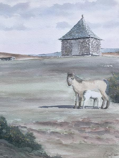 Ponies at The Pimple by Peter Blake