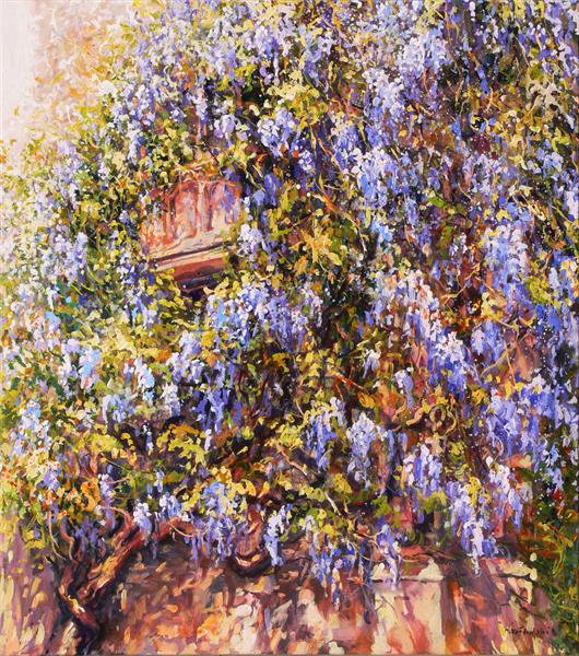 Climbing Wisteria (on display at the Art Gallery, Tetbury) by Mariusz Kaldowski