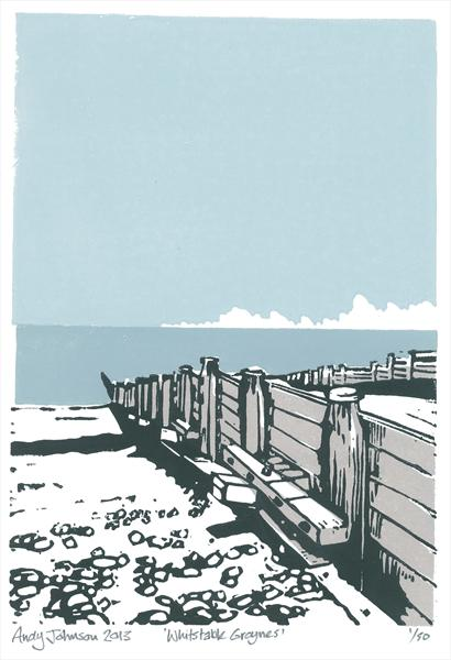 The Groynes Whitstable by Andy Johnson