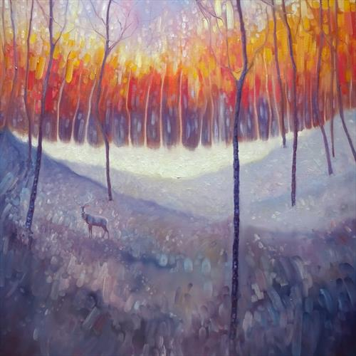 Magic Waits - A winter landscape by Gill Bustamante